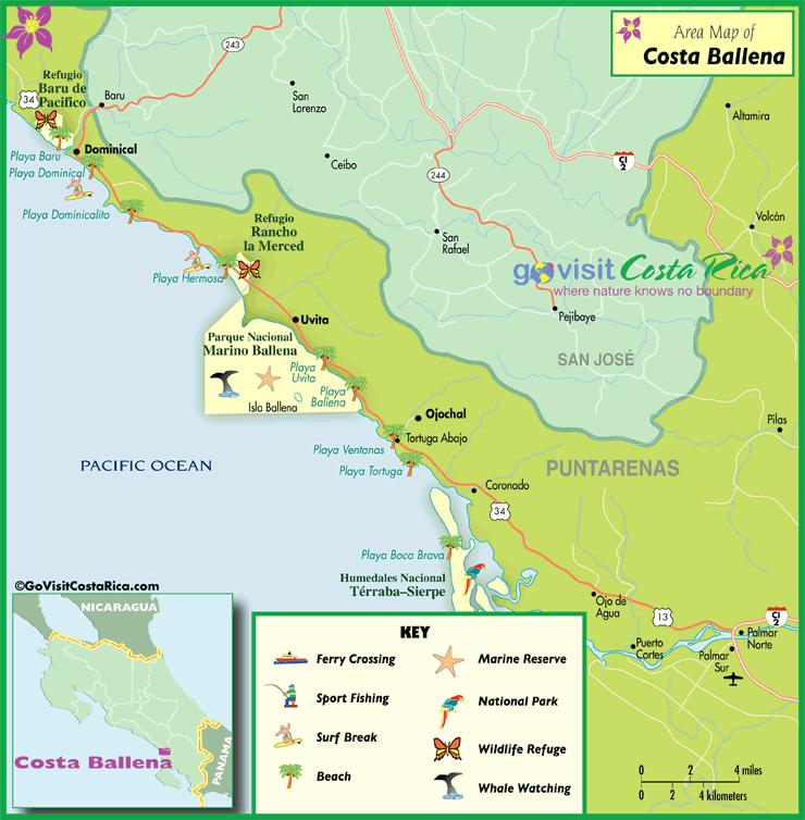 Mapa de Costa Ballena