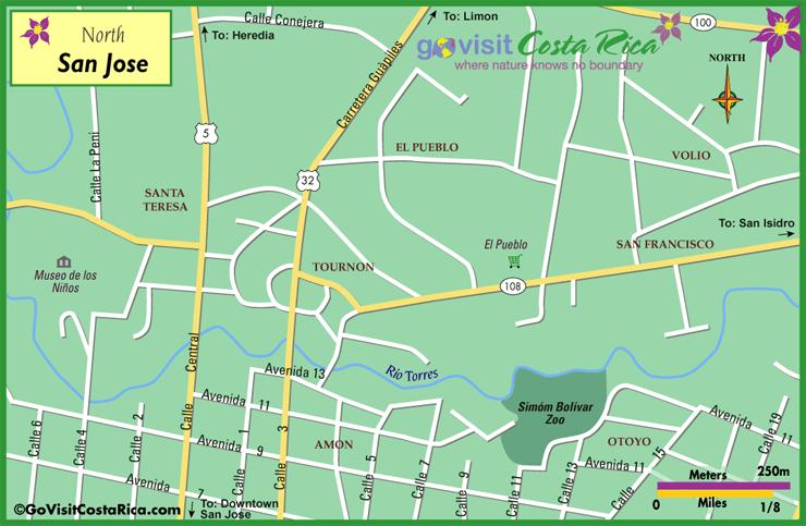 Mapa del Norte de San José