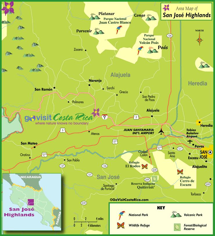 Mapa de Tierras Altas de San José